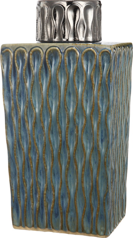 {} ARTEVALUCE Ваза с крышкой Xylia (13х18х36 см) artevaluce ваза с крышкой orlenda цвет зеленый 11х17х51 см