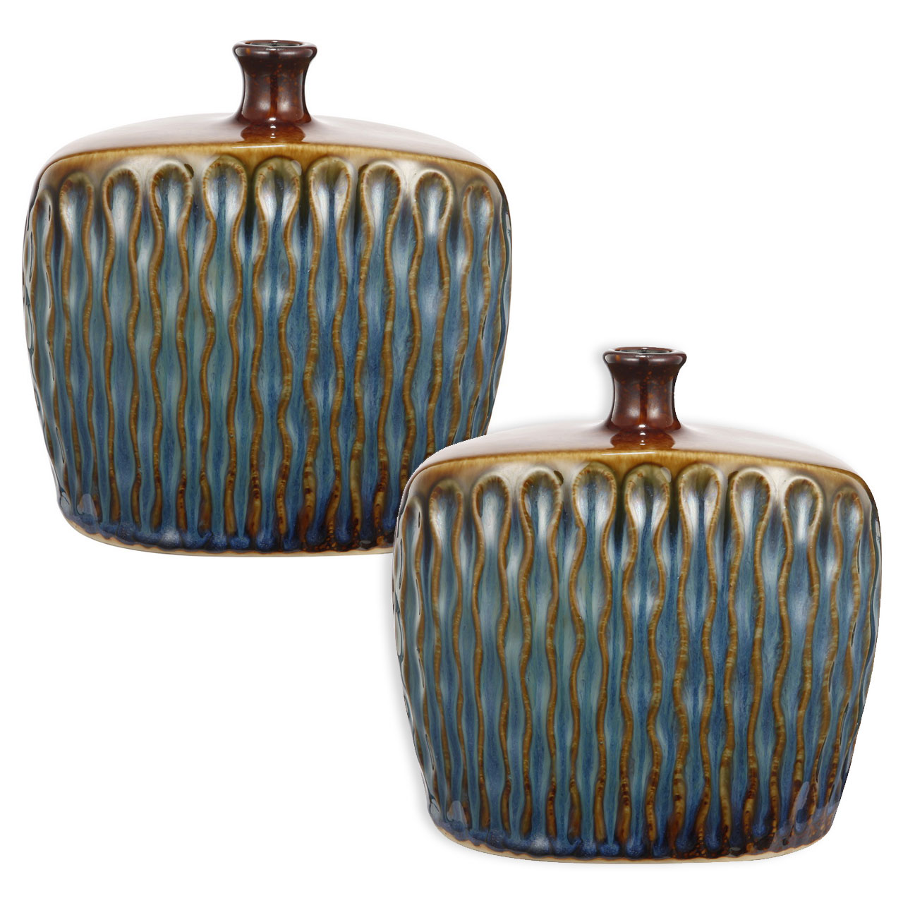 {} ARTEVALUCE Ваза Xylia (10х20х20 см - 2 шт) ваза mughal l 20 х 20 х 30 см