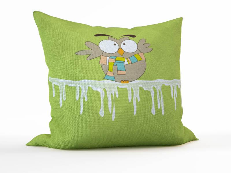 Декоративные подушки StickButik Декоративная подушка Зимняя Сова (45х45)