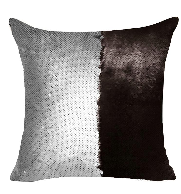 цена Декоративные подушки Good Mood Декоративная подушка с пайетками Magic Shine Цвет: Черный Металик (40х40) онлайн в 2017 году