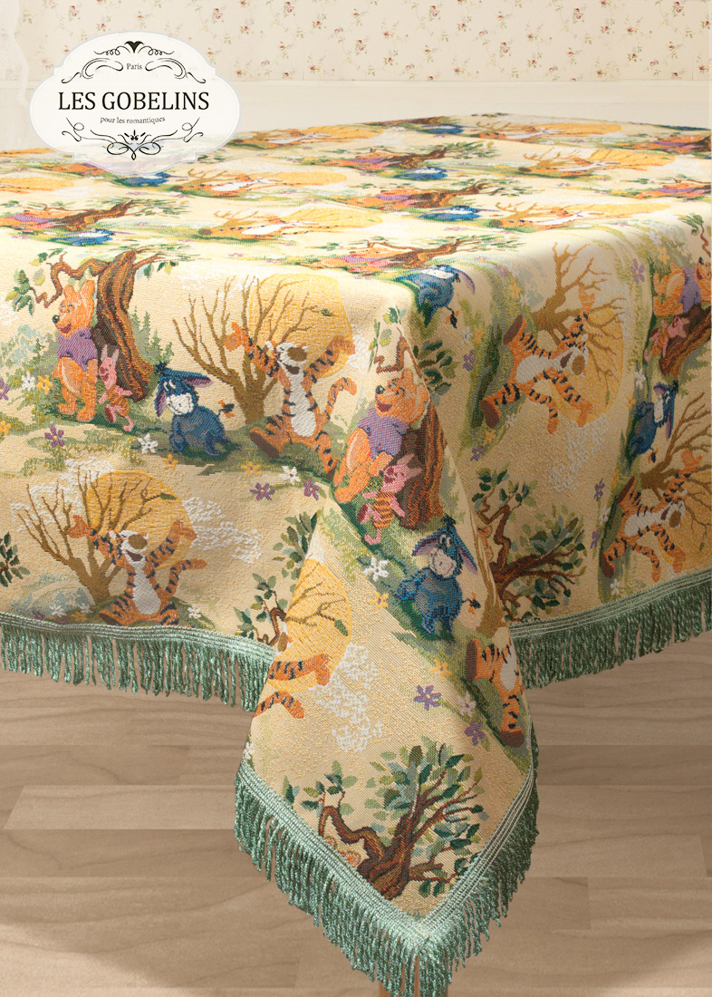 Скатерти и салфетки Les Gobelins Скатерть Winnie L'Ourson (130х240 см) скатерти duni скатерть 138х220 d s