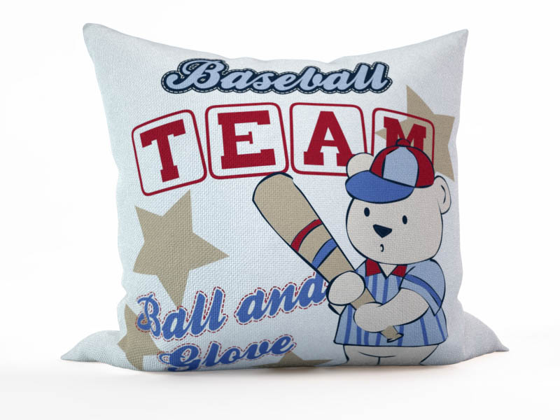 Декоративные подушки StickButik Декоративная подушка Мишка - Бейсболист (45х45)