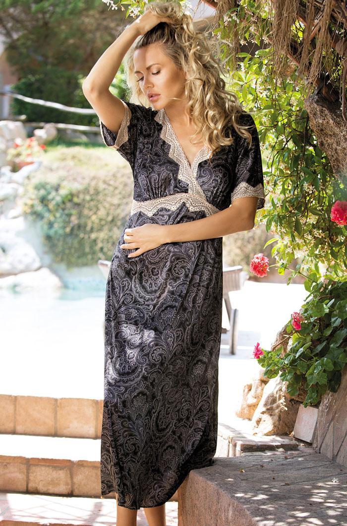 Ночные сорочки Mia-Mia Ночная сорочка Nicoletta Цвет: Сирия (xxxxL) ночные сорочки hello moda ночная сорочка