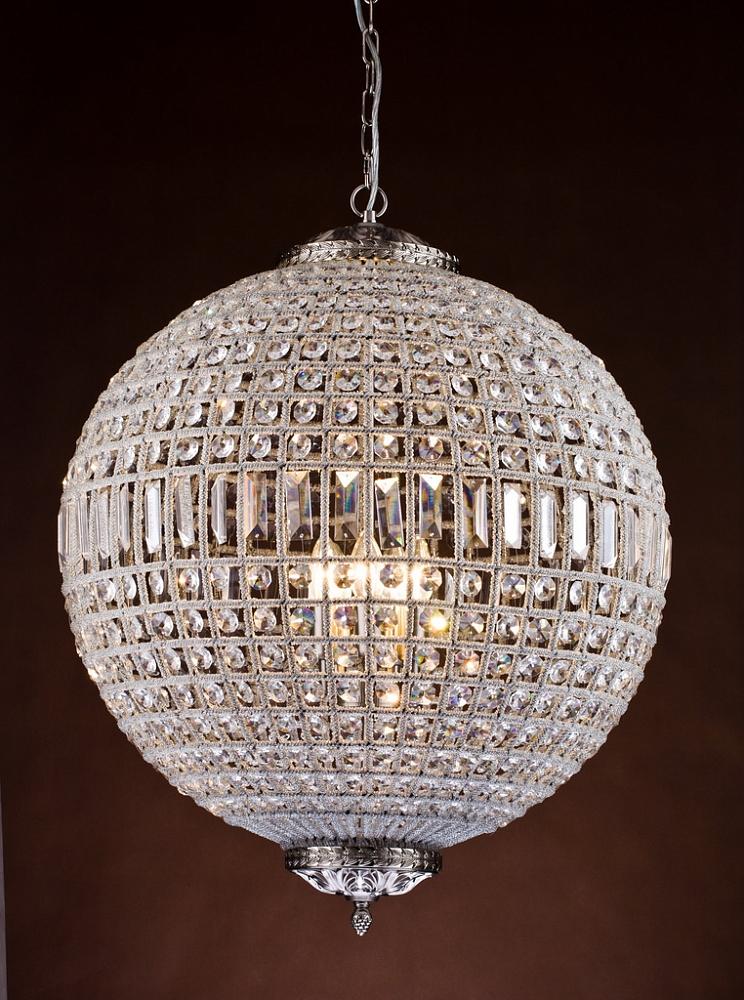 {} CRYSTAL LIGHT Подвесной светильник Сesaria Цвет: Серебряный (63 см) crystal light светильник подвесной moooi dandelion цвет серебряный 80х200 см