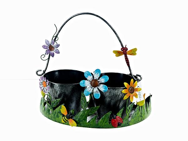 {} Gloria Garden Кашпо Цветочная Полянка (16х30х33 см) gloria garden фигурка веселая компания 10х13х14 см