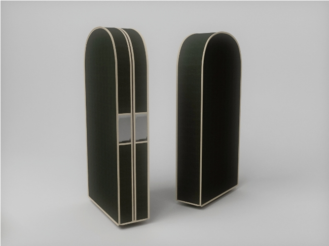 {} CoFreT Чехол для одежды Классик Цвет: Черный (20х60х130 см)