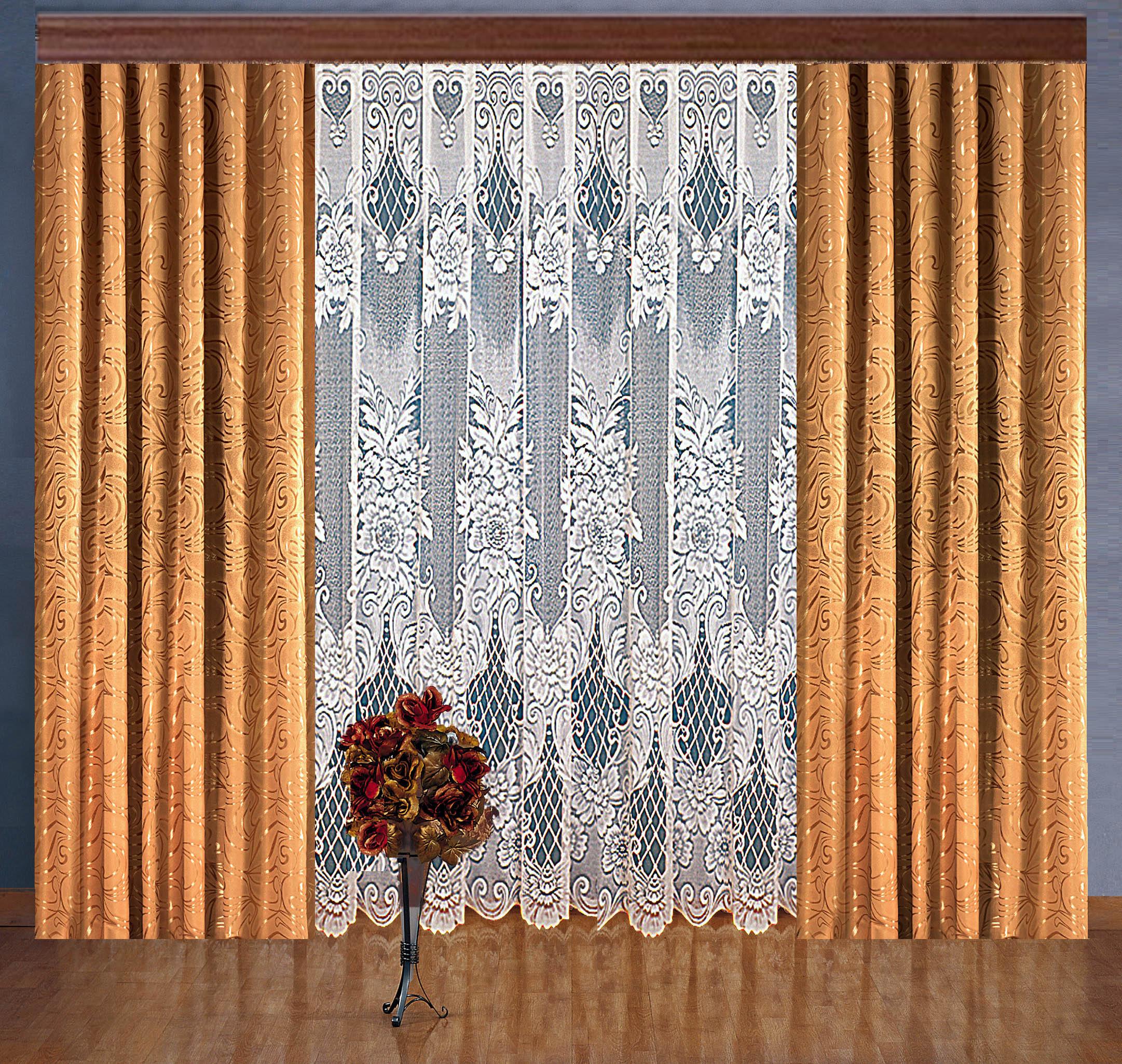 Шторы Elegante Классические шторы Avice Цвет: Бежевый шторы tac классические шторы winx цвет персиковый 200x265 см