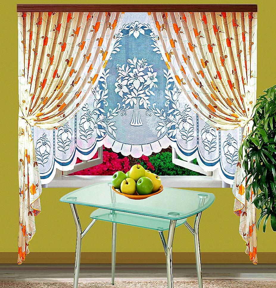 Шторы Elegante Классические шторы Arianna Цвет: Оранжевый шторы tac классические шторы winx цвет персиковый 200x265 см