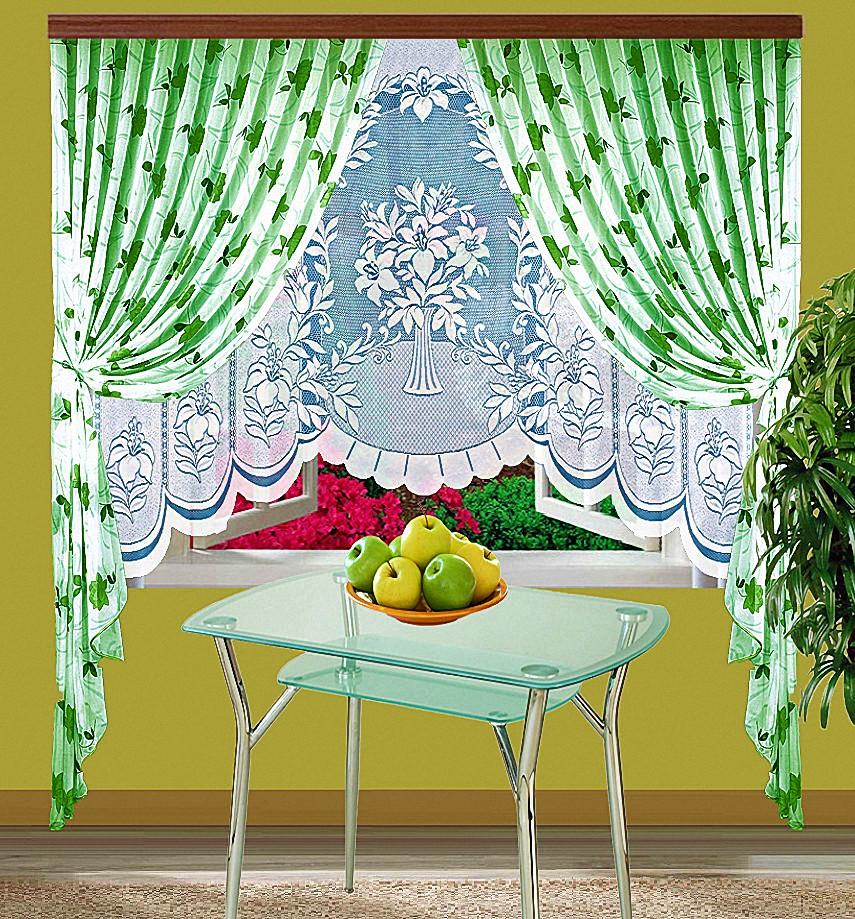 Шторы Elegante Классические шторы Arianna Цвет: Зеленый шторы tac классические шторы winx цвет персиковый 200x265 см
