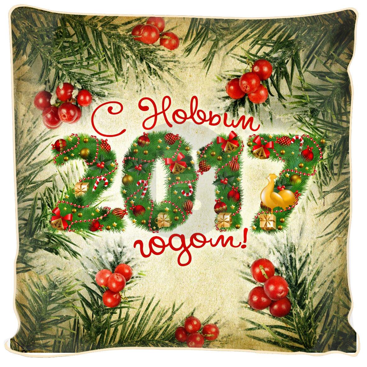 где купить Декоративные подушки Fototende Декоративная подушка С Новым Годом (45х45) по лучшей цене