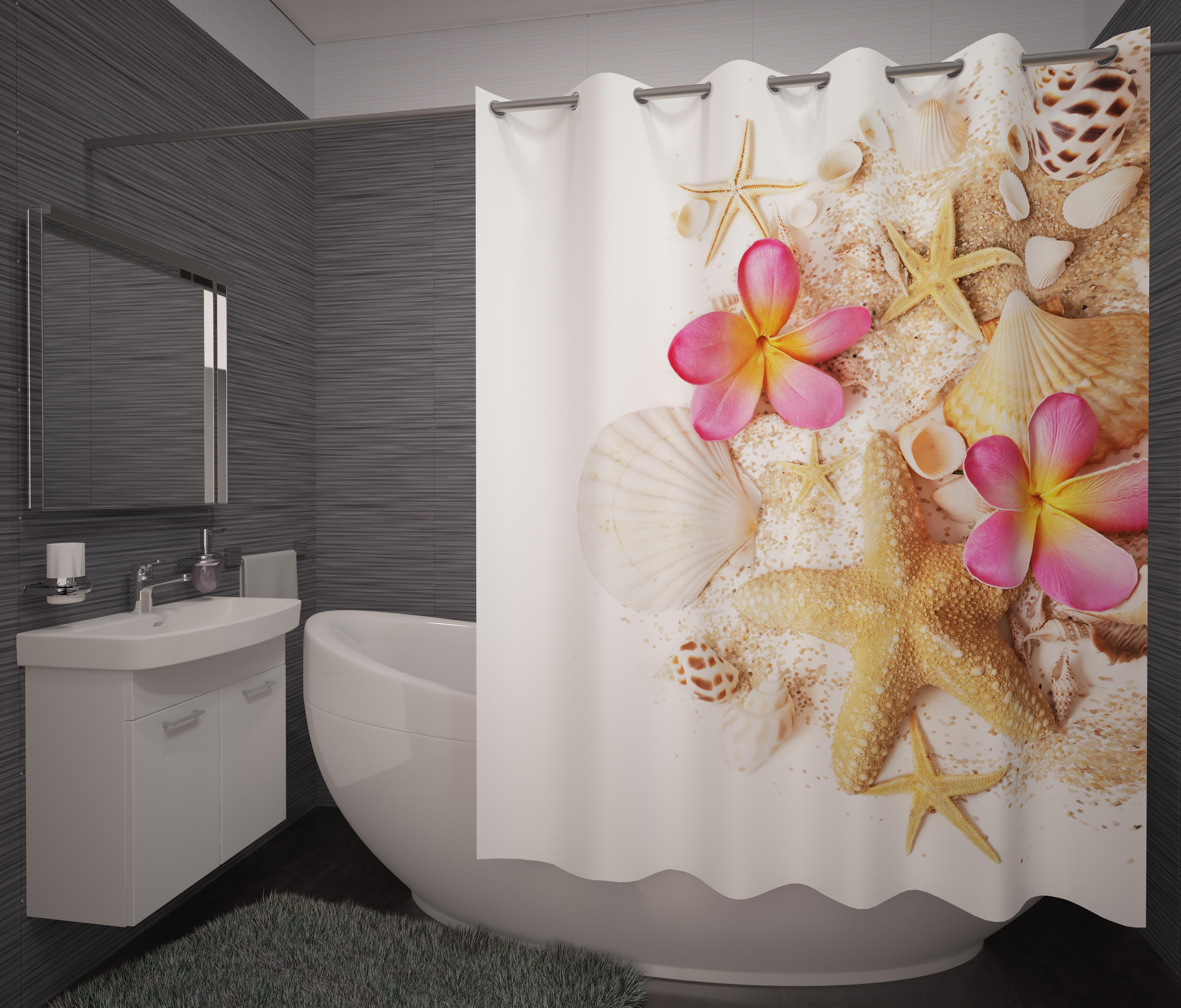 Шторы и карнизы для ванной Fototende Фотошторы для ванной Pupilla