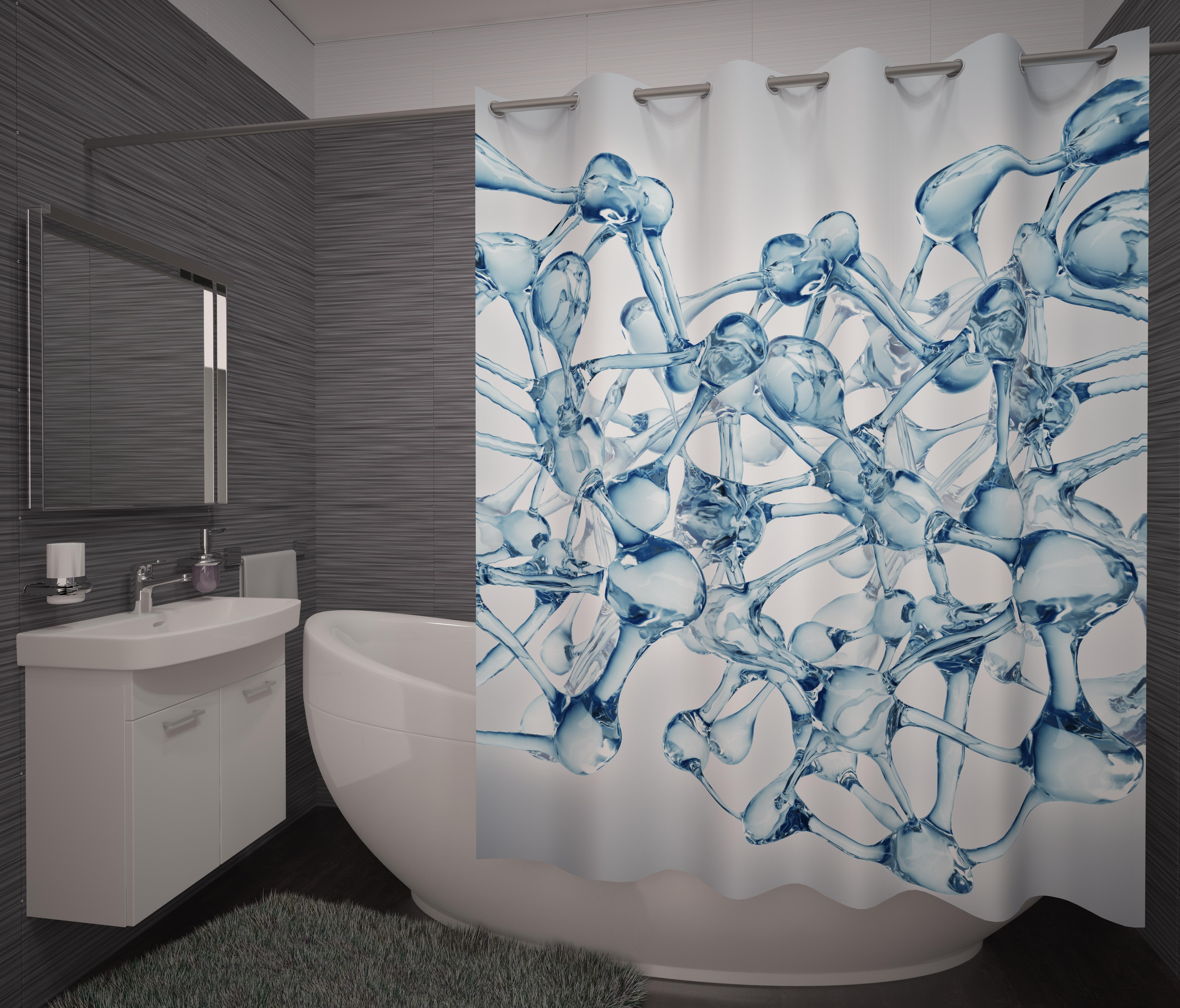 Шторы и карнизы для ванной Fototende Фотошторы для ванной Jacqueline карнизы