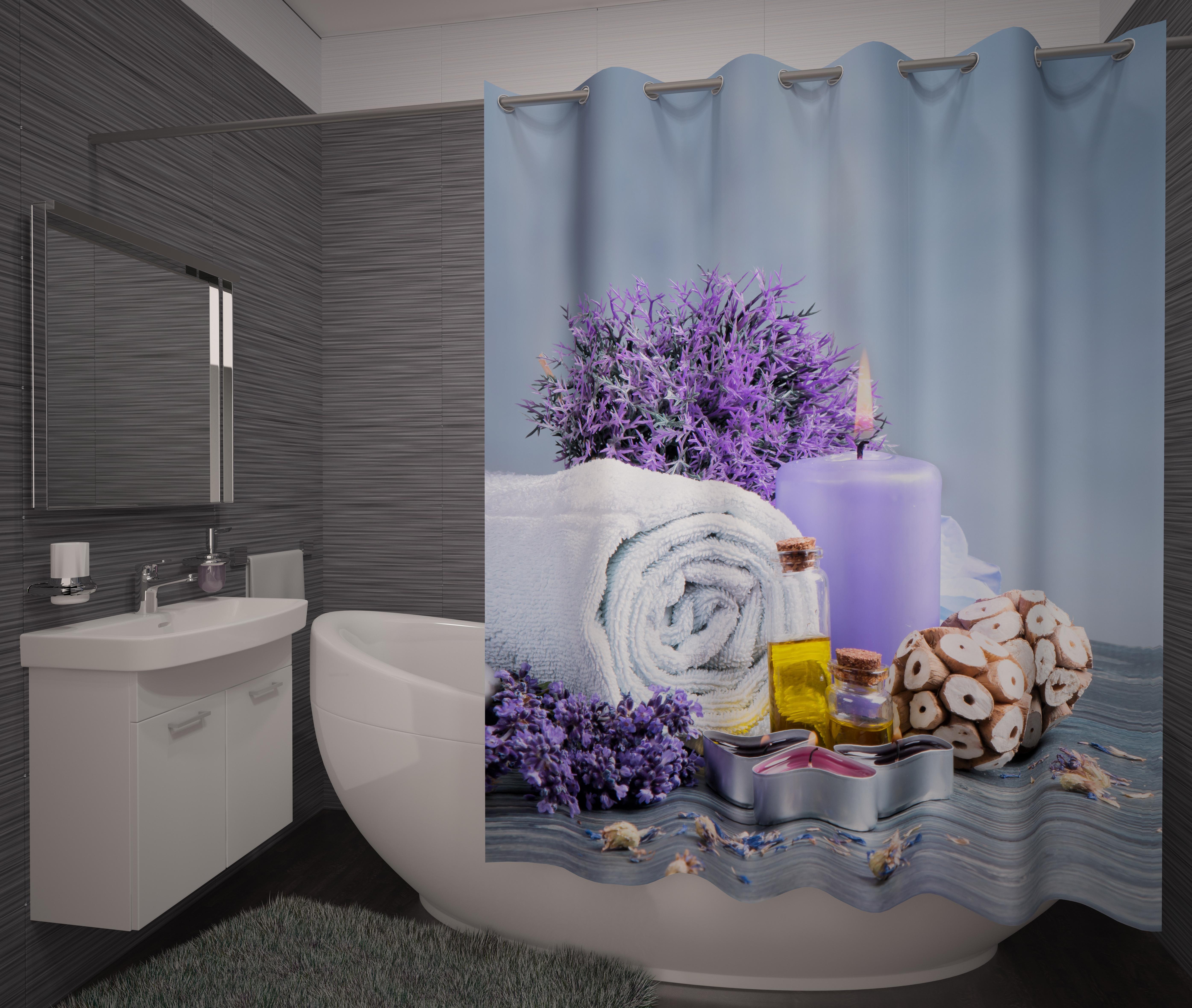 Шторы и карнизы для ванной Fototende Фотошторы для ванной Eternty карнизы