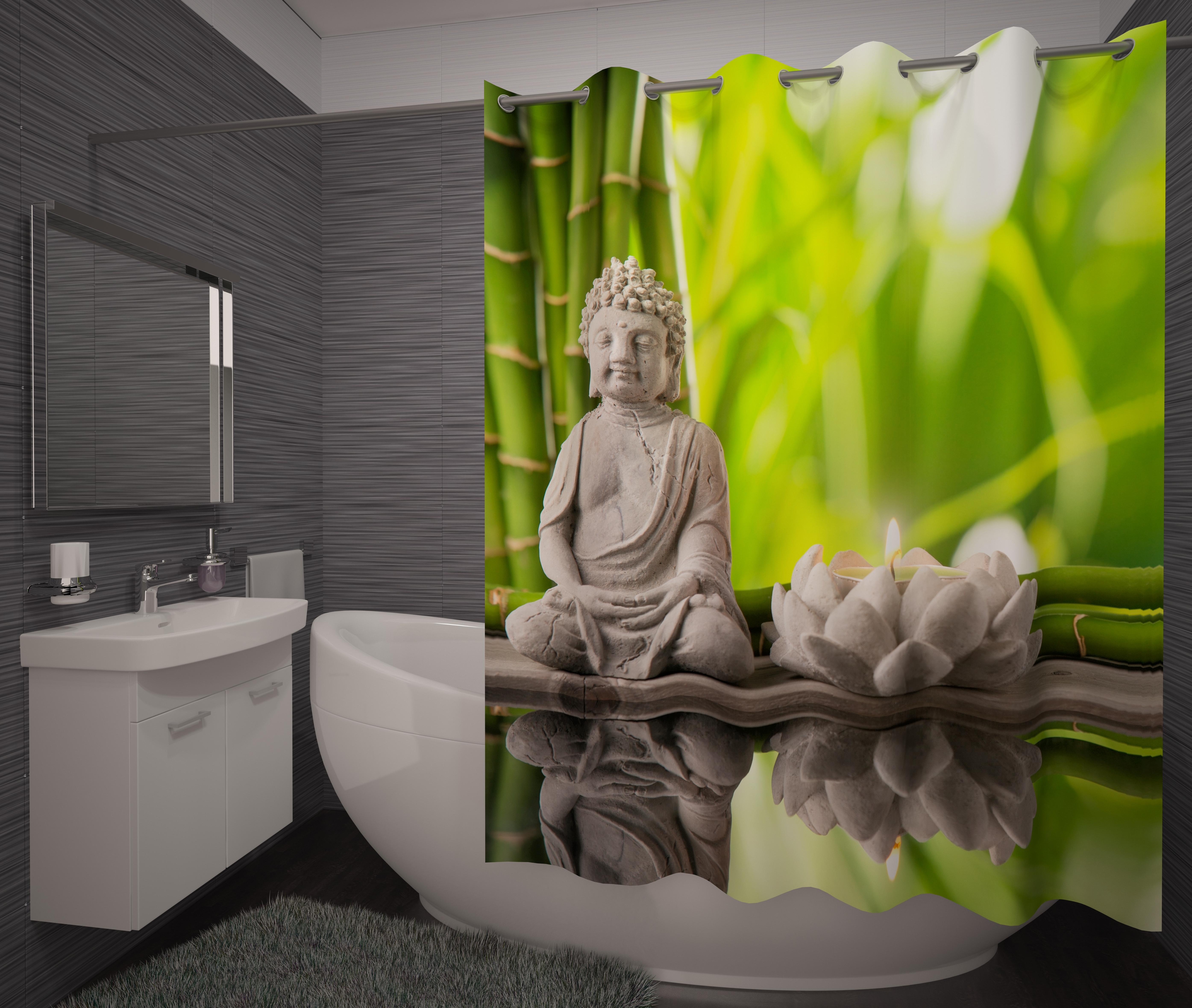 Шторы и карнизы для ванной Fototende Фотошторы для ванной Britney шторы fototende фотошторы pru