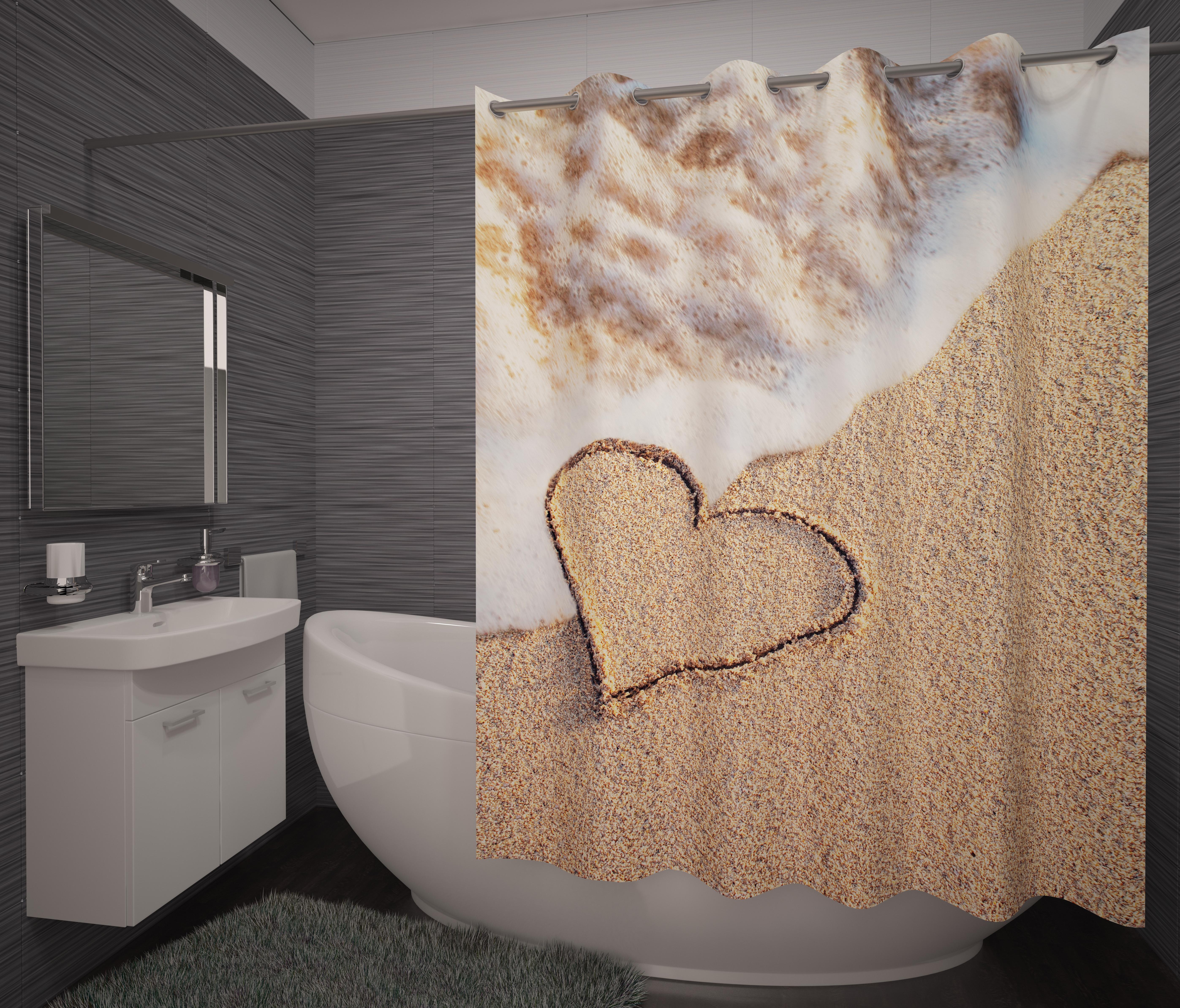 Шторы и карнизы для ванной Fototende Фотошторы для ванной Tria карнизы