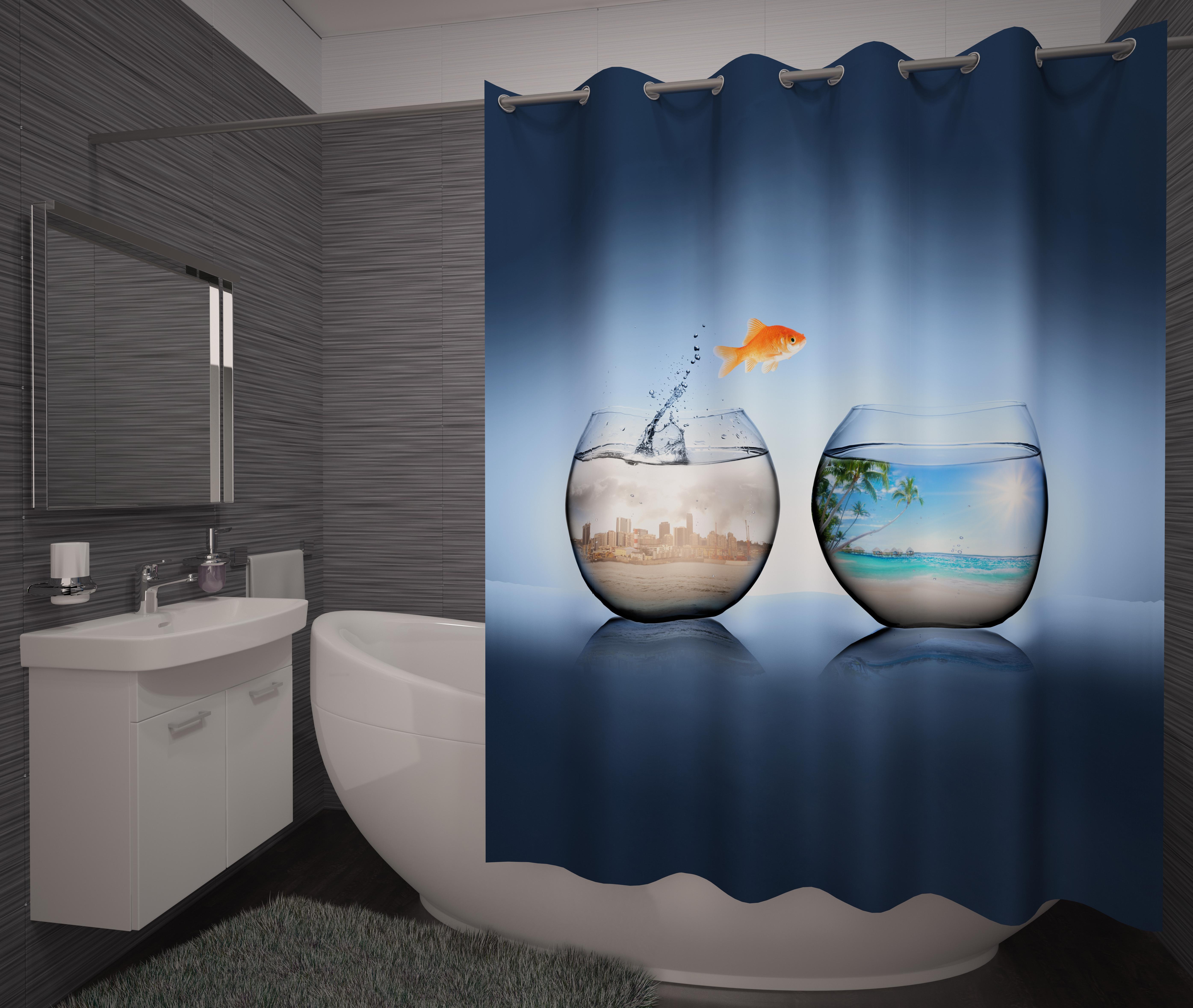 Шторы и карнизы для ванной Fototende Фотошторы для ванной Libra шторы fototende фотошторы pru
