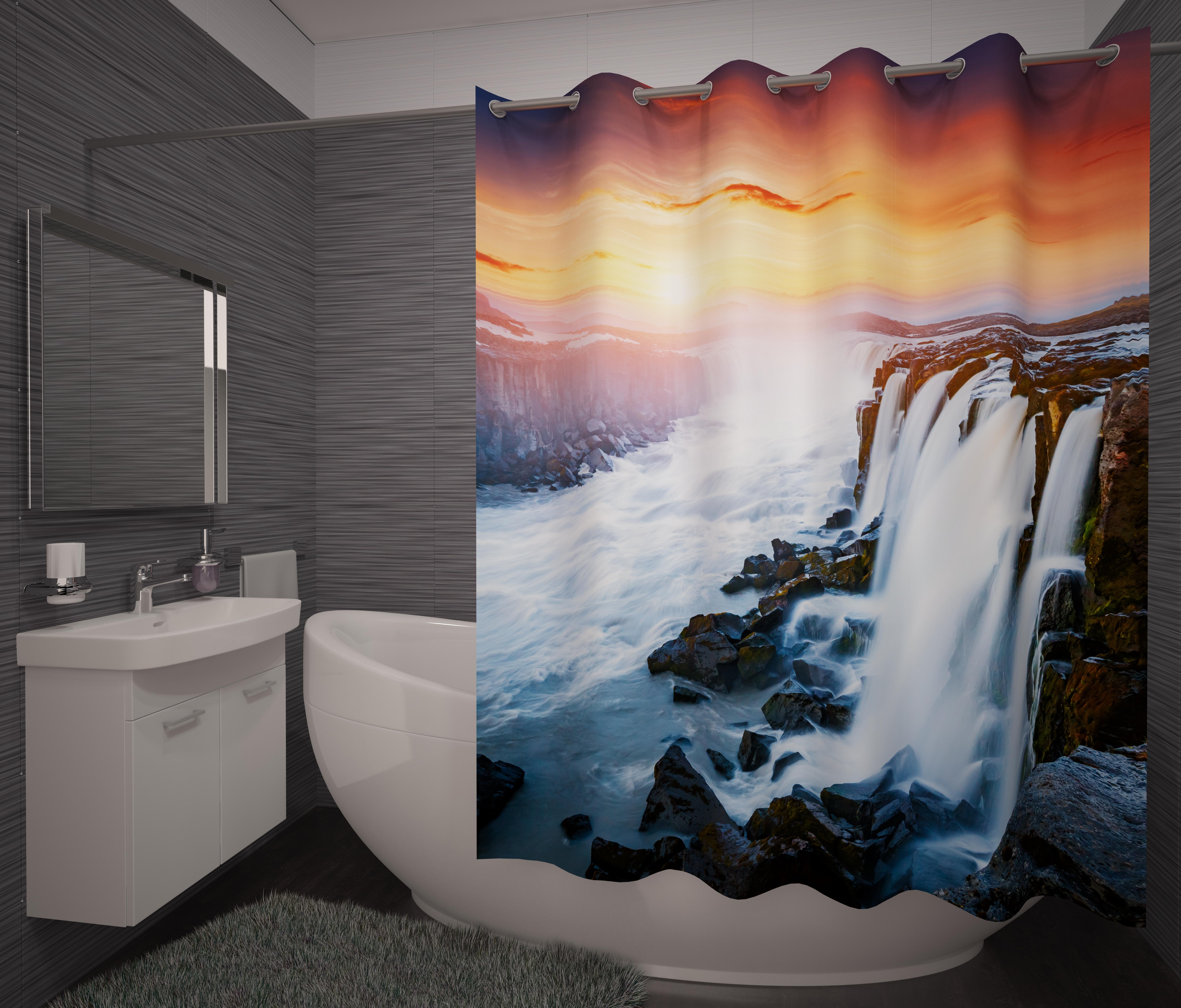 Шторы и карнизы для ванной Fototende Фотошторы для ванной Horta шторы fototende фотошторы pru