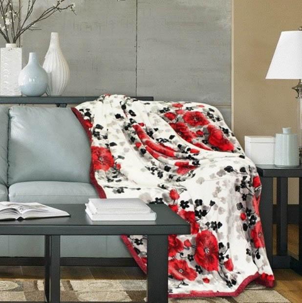 Плед Absolute Плед Desire Цвет: Белый, Красный (180х220 см)