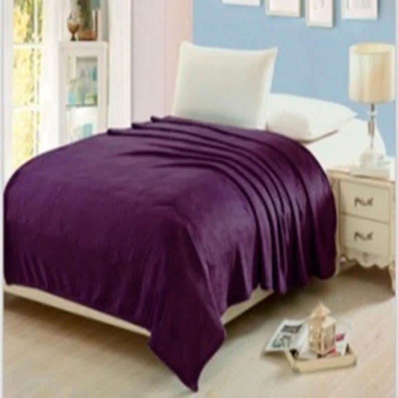 Плед HONGDA TEXTILE Плед Палитра Цвет: Фиолетовый (180х200 см) пледы hongda textile лань ворсистый плед 270 г м2