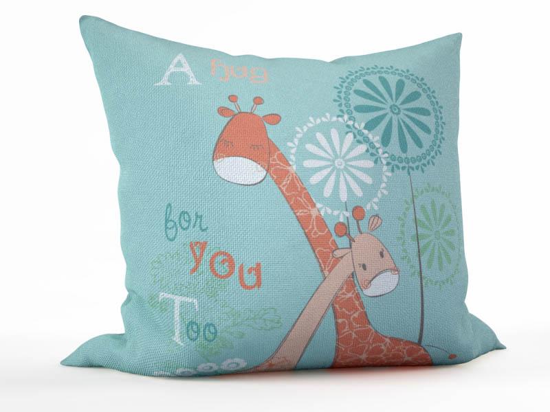 Декоративные подушки StickButik Декоративная подушка Объятия Жирафов (45х45)