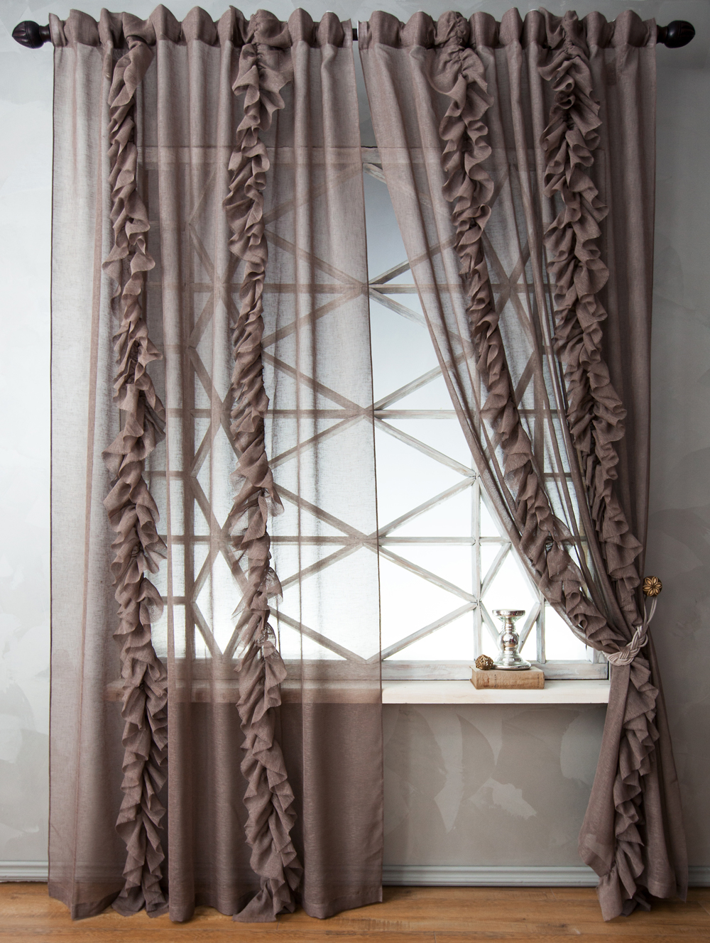Шторы PASIONARIA Классические шторы Иви Цвет: Коричневый pasionaria pasionaria классические шторы оксфорд цвет зеленый