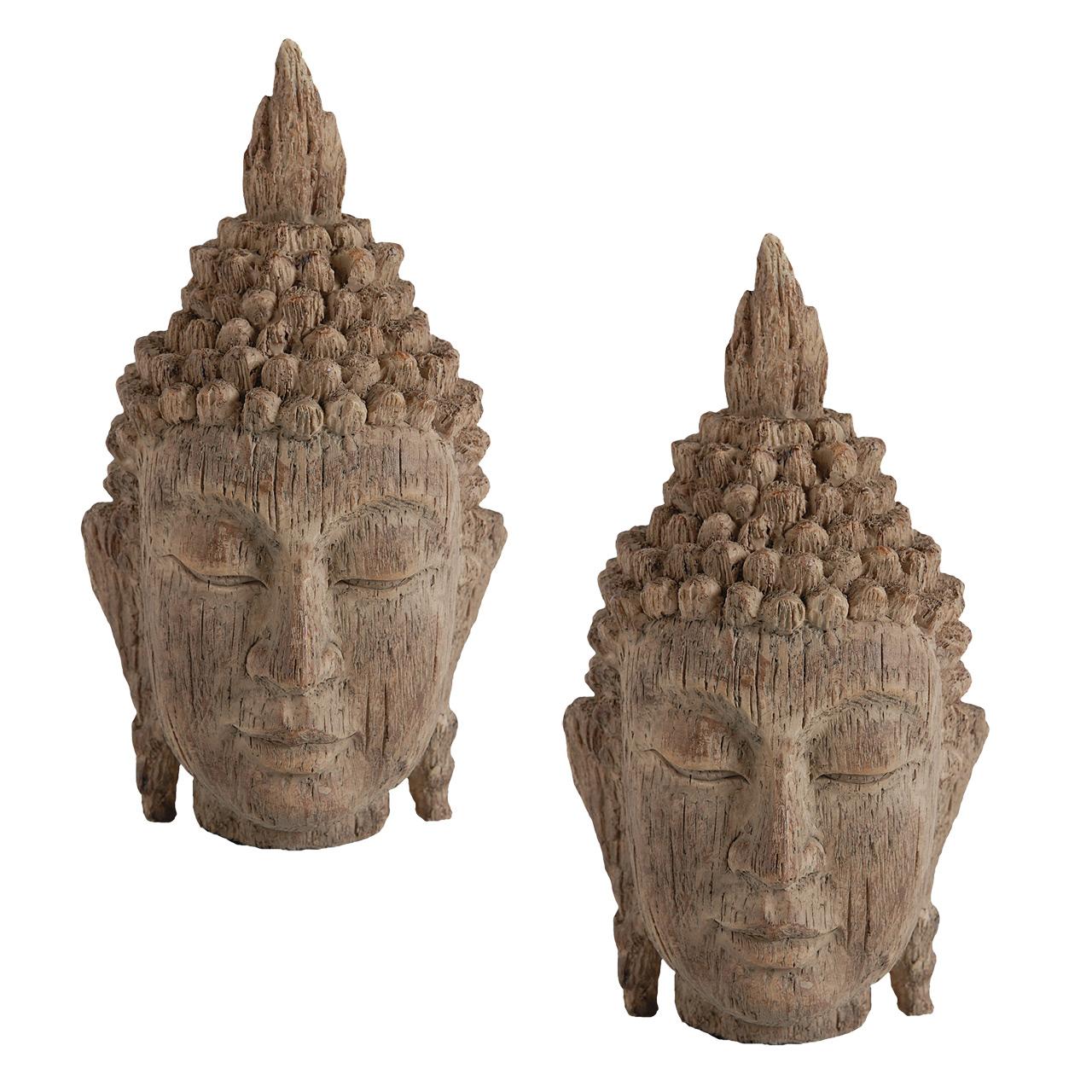 {} ARTEVALUCE Статуэтка Голова Будды (11х12х20 см - 2 шт) статуэтка африканка федерация статуэтка африканка