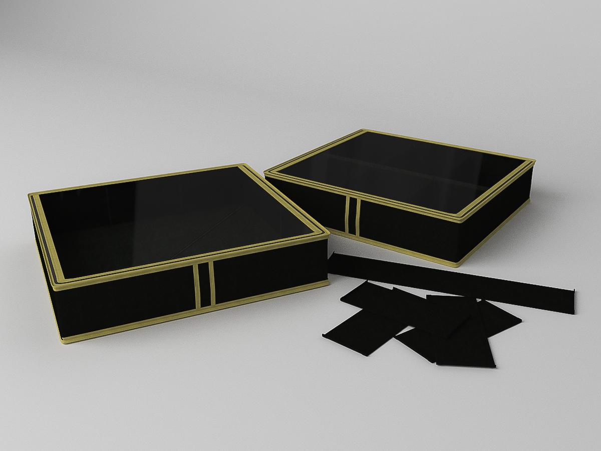 {} CoFreT Кофр для обуви Классик Цвет: Черный (12х52х56 см)