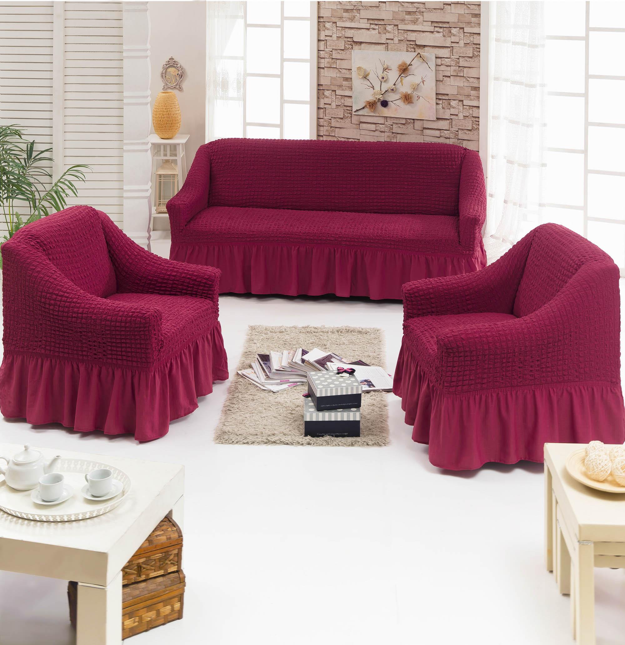 {} Juanna Набор чехлов для мягкой мебели Serana Цвет: Бордовый every набор чехлов для дивана every цвет бордовый
