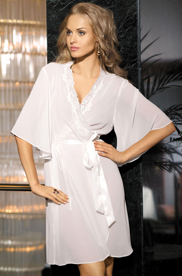 Домашние халаты Mia-Mia Домашний халат Миледи Цвет: Белый (S-M) халаты домашние лори халат