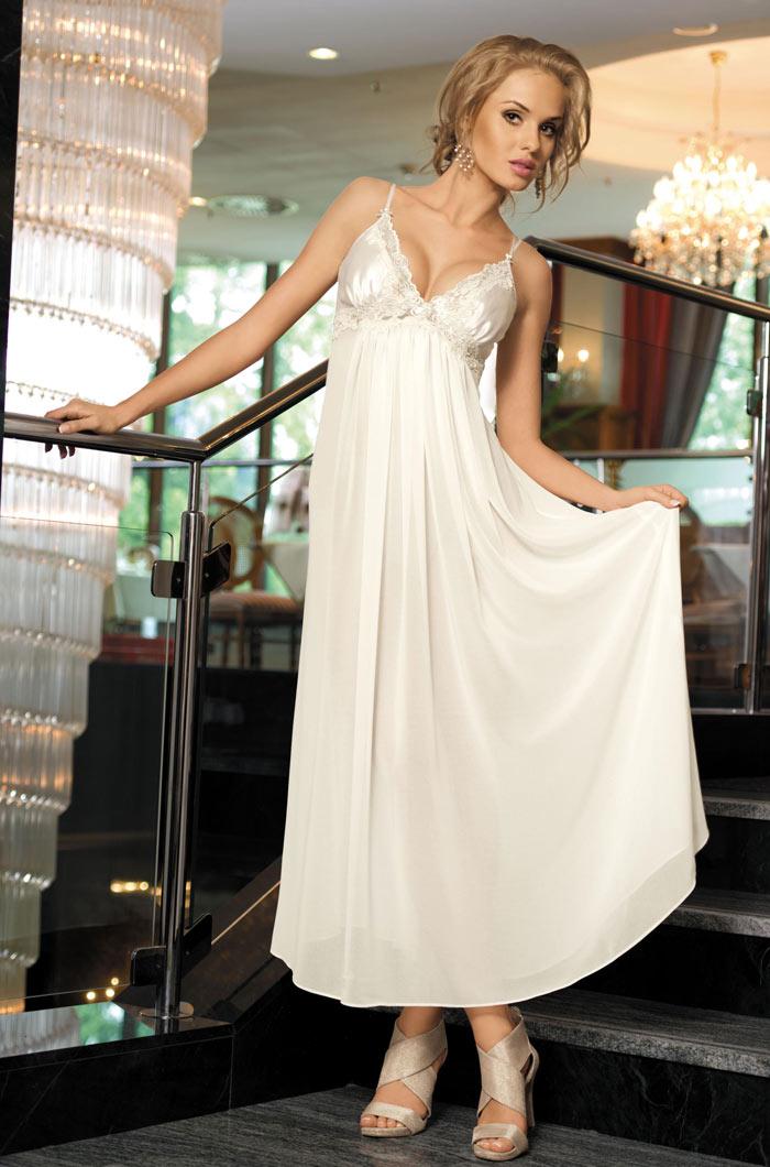 Ночные сорочки Mia-Mia Ночная сорочка Миледи Цвет: Белый (S-M) сорочка и стринги soft line mia размер s m цвет белый