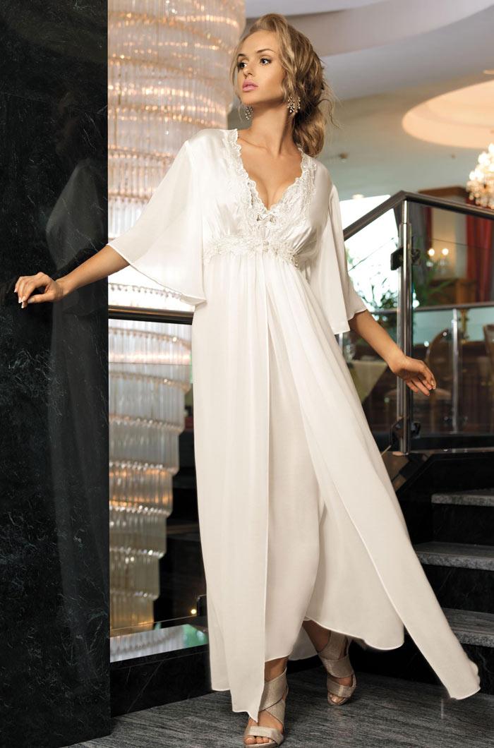Домашние халаты Mia-Mia Домашний халат Миледи Цвет: Белый (S-M) домашние халаты mia mia домашний халат yesenia s