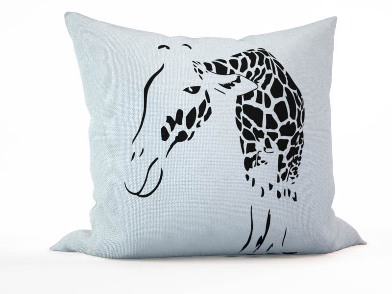 Декоративные подушки StickButik Декоративная подушка Загадочный Жираф (45х45) подушки декоративные maxitoys подушка подголовник жираф