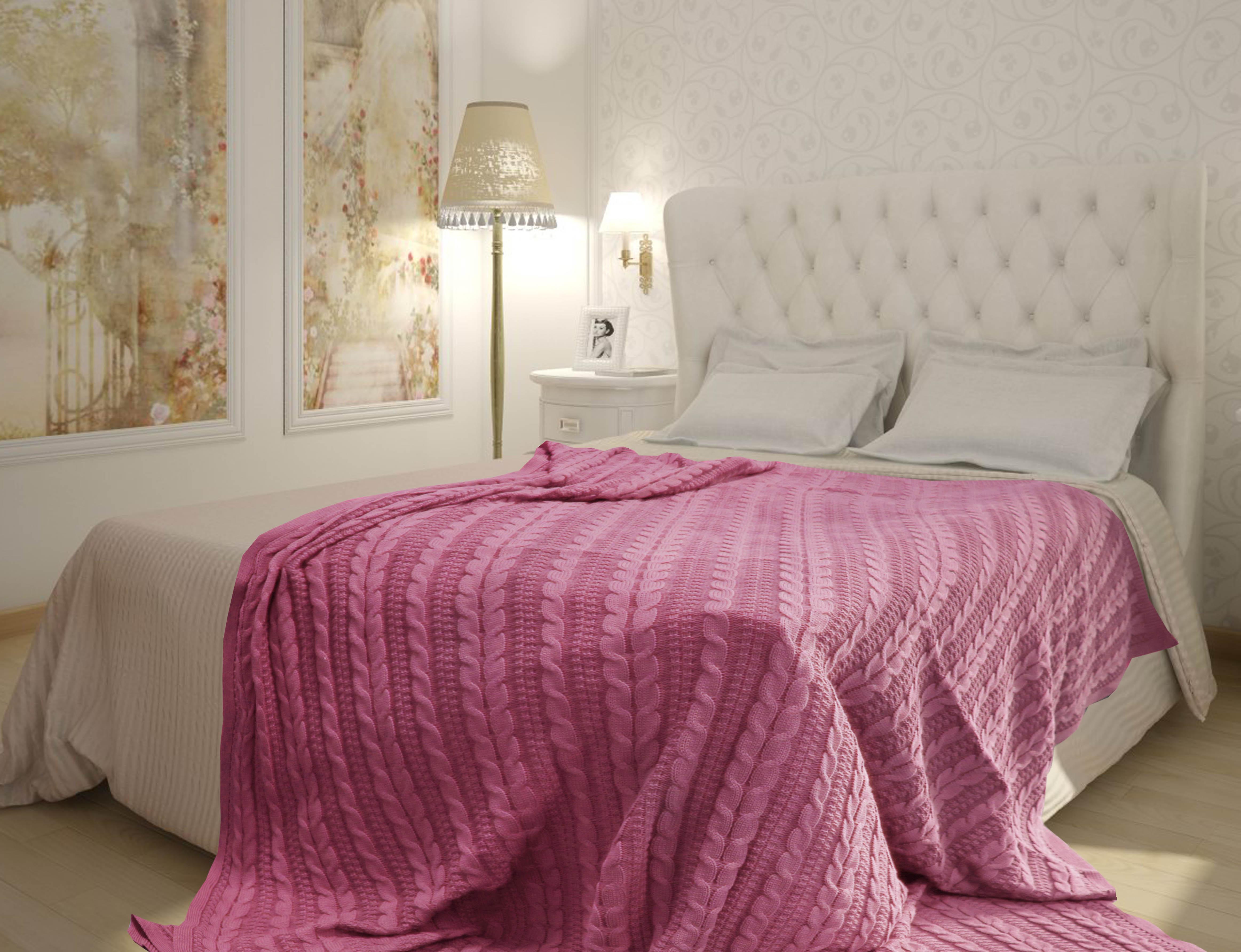 Плед Buenas Noches Плед Braid Цвет: Розовый (180х210 см) плед вязаный buenas noches braid h1 1821