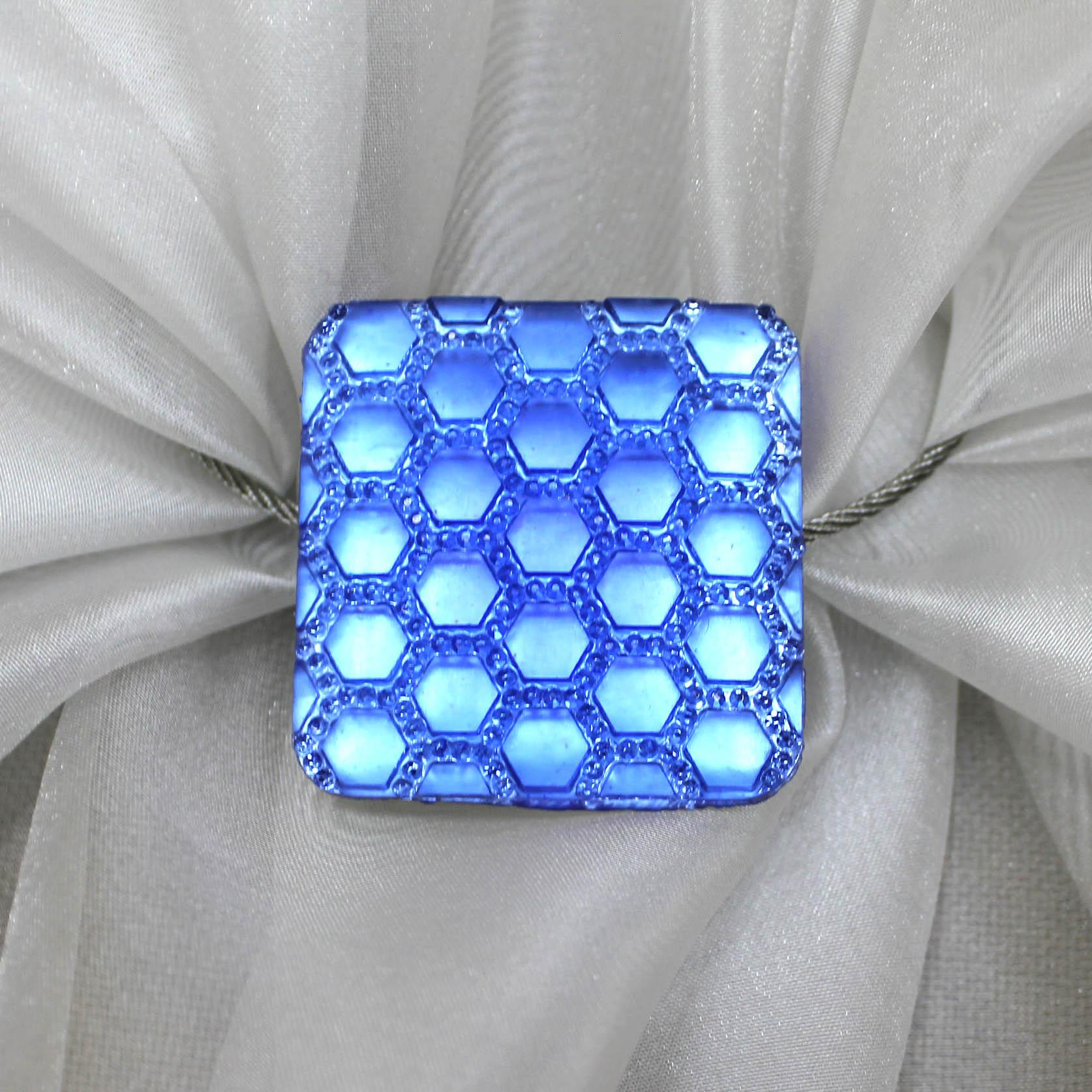 Карнизы и аксессуары для штор Ajur Подхват для штор магнитный Dishan Цвет: Голубой карнизы и аксессуары для штор ajur подхват для штор магнитный abott цвет белый