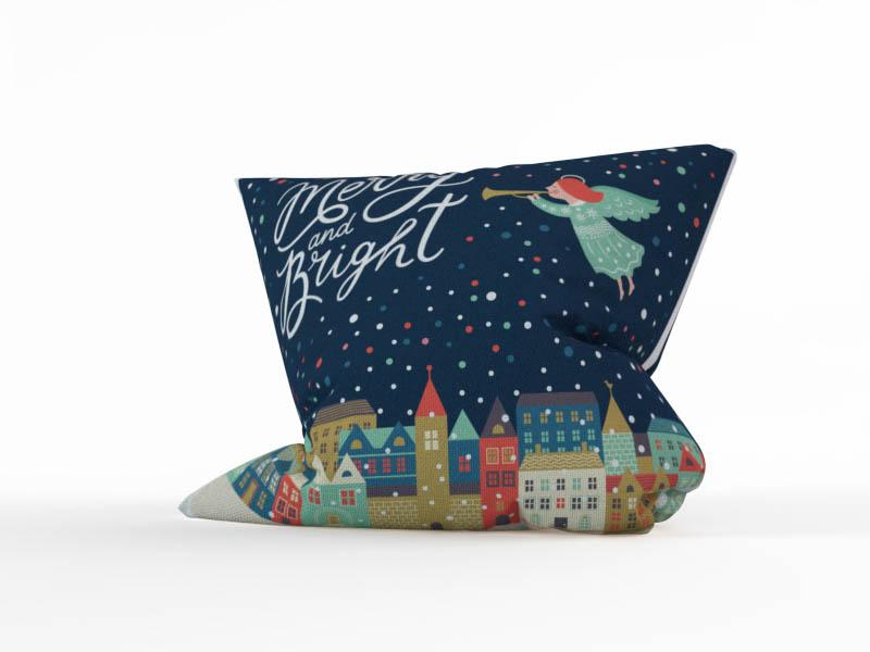 Декоративные подушки StickButik Декоративная подушка Рождественский Ангелок (45х45)