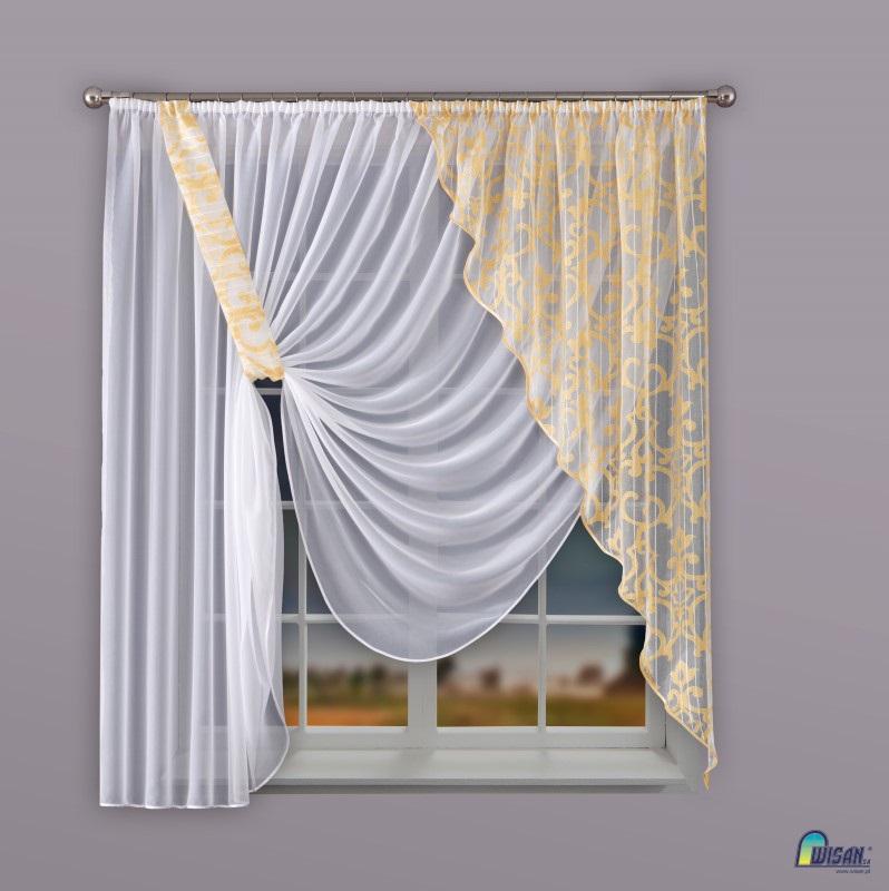 Шторы Wisan Скрещенные шторы Bettie комплект штор для кухни wisan celina на ленте цвет белый оранжевый высота 180 см