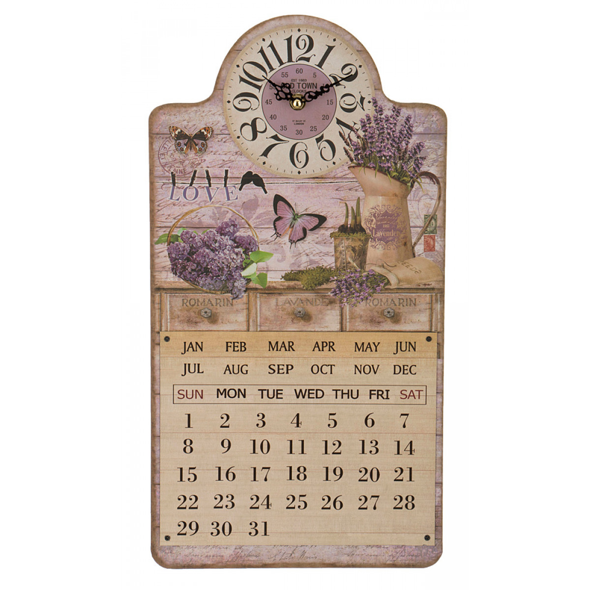 {} Lefard Часы-календарь Carlin  (5х25х46 см) футболка mystery carlin junebug white