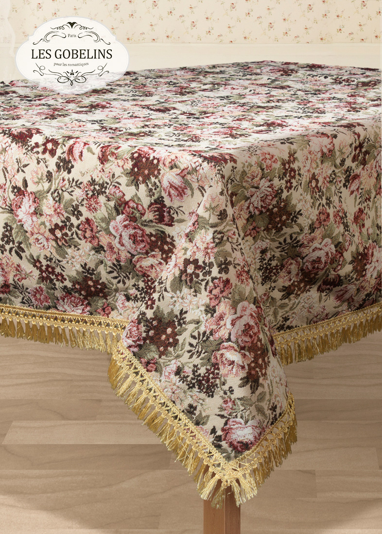 Скатерти и салфетки Les Gobelins Скатерть Bouquet Francais (150х300 см) скатерти duni скатерть 138х220 d s