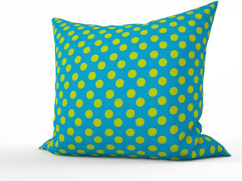 Декоративные подушки StickButik Декоративная подушка Зеленый Горошек (45х45) бусы авантюрин зеленый 45 см