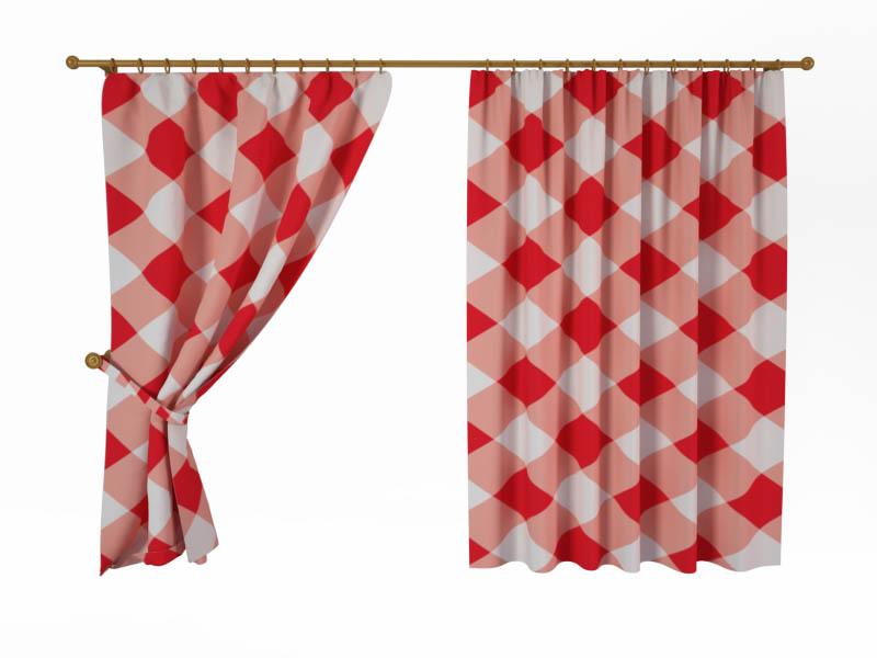 Шторы StickButik Фотошторы Красное Плетение