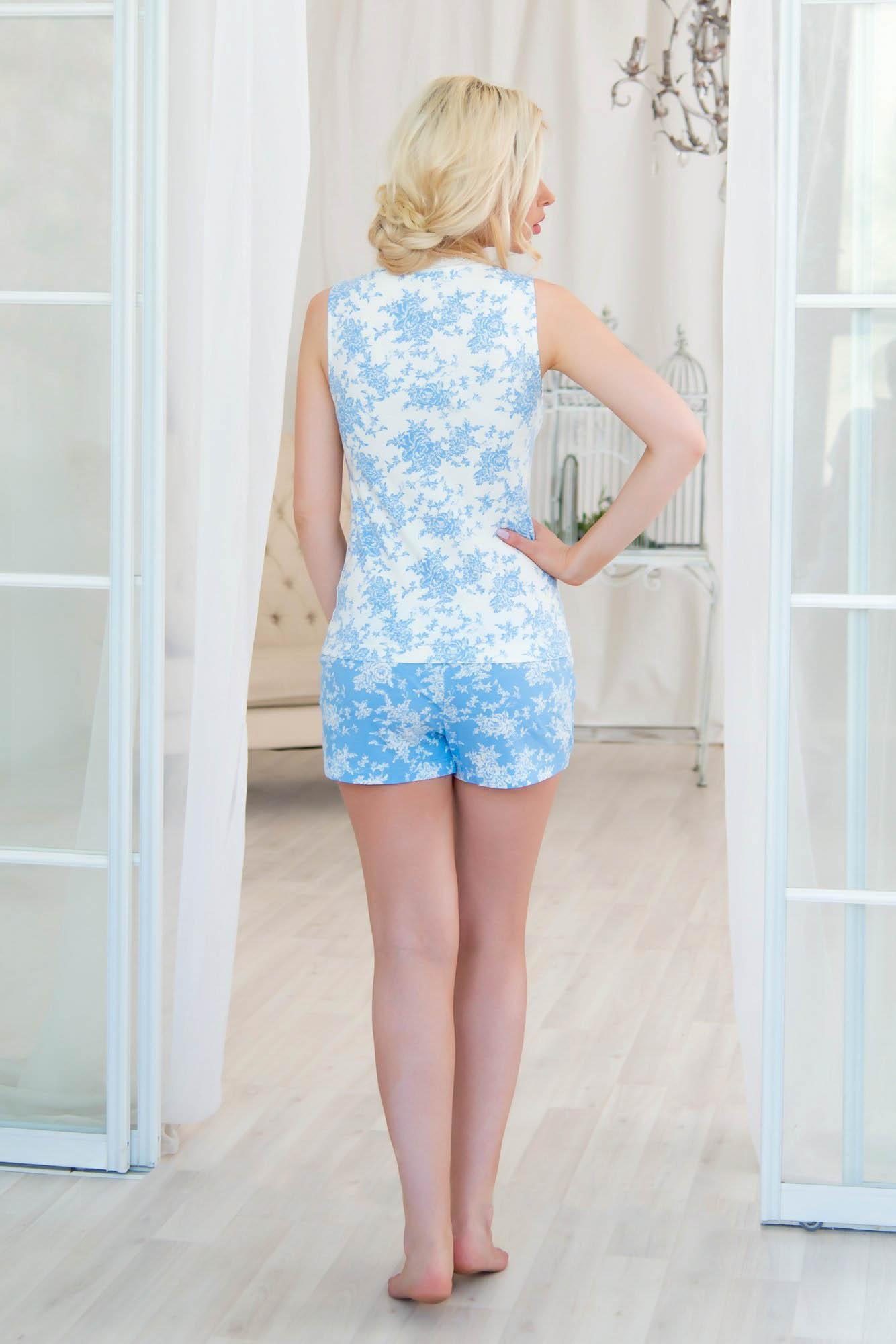 Пижамы Mia Cara Пижама Adelaide Цвет: Молочный-Небесный (M-L) пижамы mia cara пижама paisley цвет розовый m l