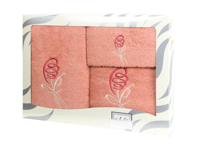 Полотенца Valentini Полотенце Valentini Цвет: Персиковый (Набор) полотенца valentini полотенце aqua цвет персиковый 50х100 см