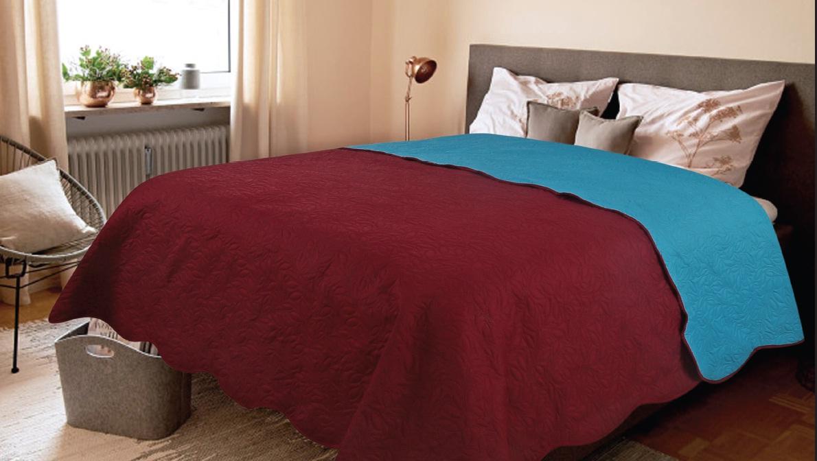 Покрывало Amore Mio Покрывало Alba Цвет: Бордовый (160х200 см) плед amore mio плед delicacy 170х200 см