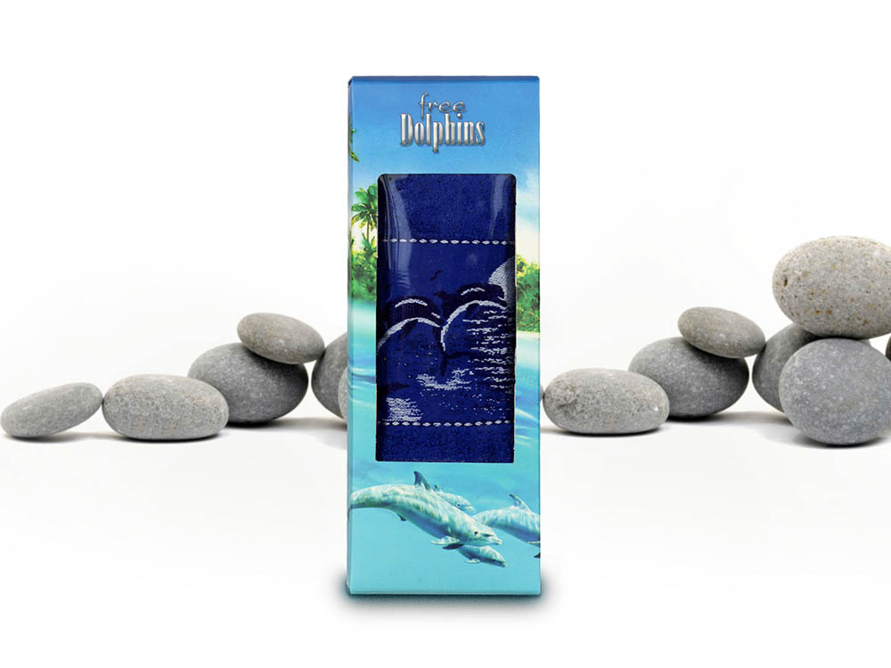 Полотенца Gulcan Полотенце Dolfins (50х90 см) полотенца банные la pastel полотенце кружево 50х90 см