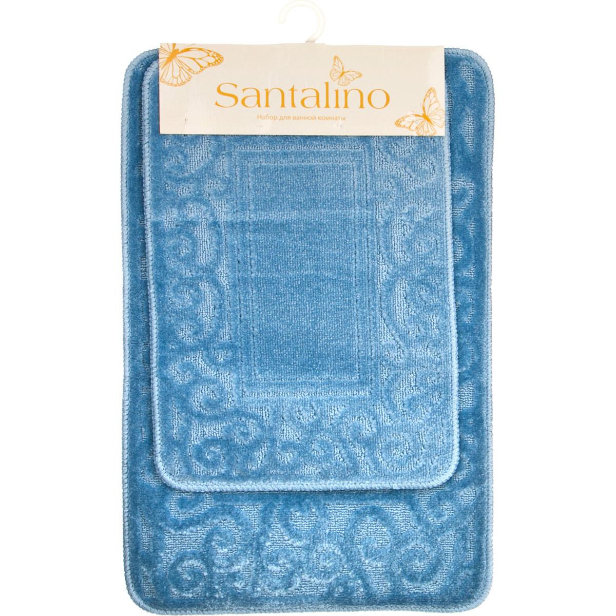 Аксессуары для ванной и туалета Santalino Коврик для ванной Dorinda  (40х60 см,50х80 см) коврик для ванной арти м 50х80 см розанна