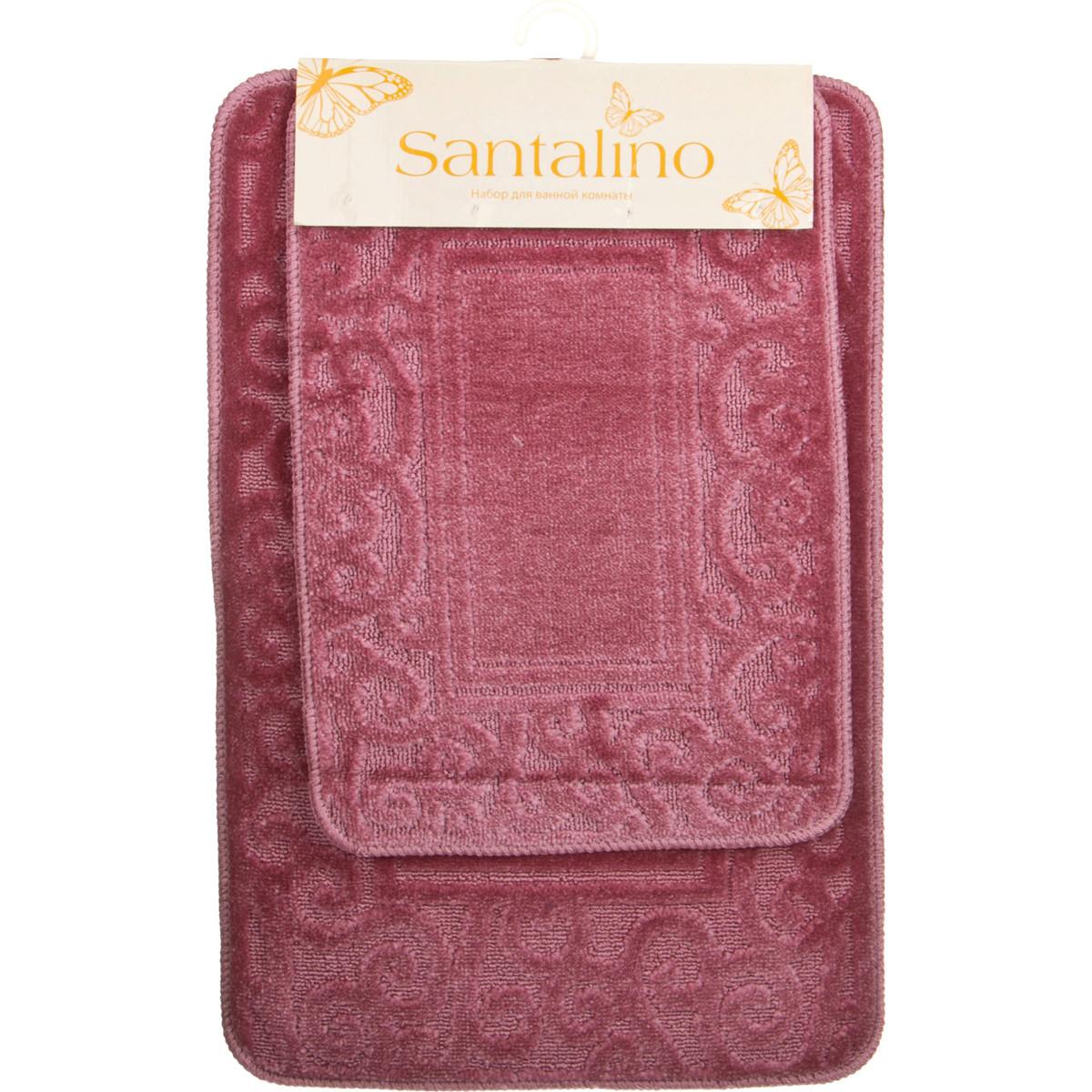 Аксессуары для ванной и туалета Santalino Коврик для ванной Vivien  (40х60 см,50х80 см) коврик для ванной арти м 50х80 см розанна