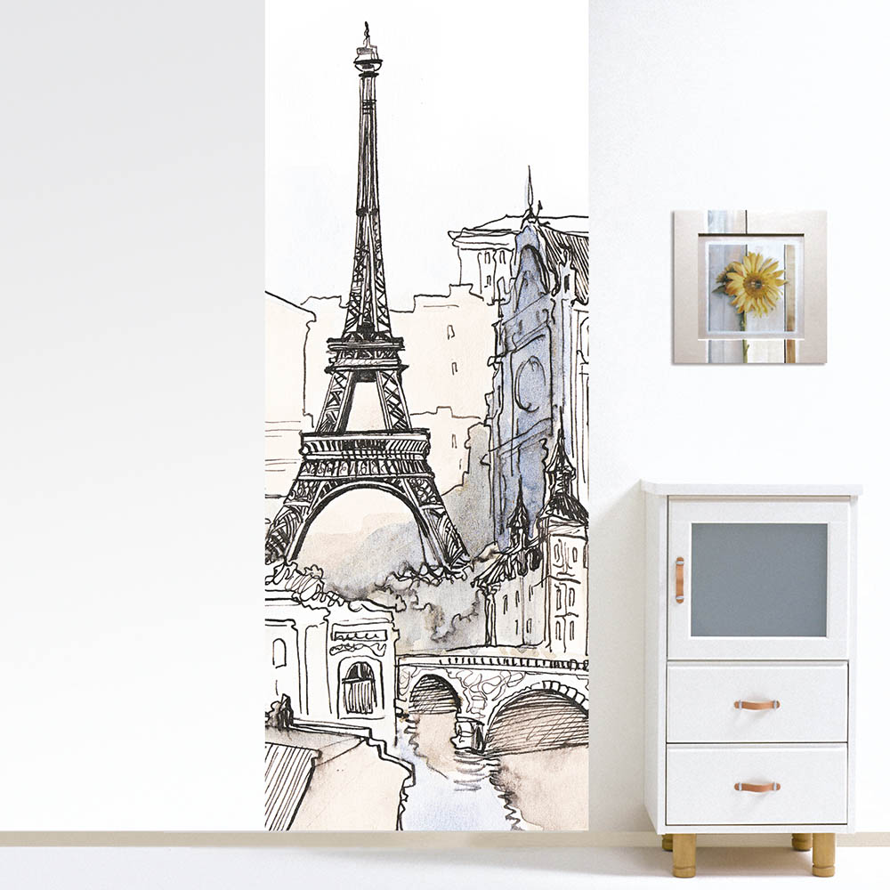 {} Pastel Картина Эйфелева Башня (100х290 см) пазлы magic pazle объемный 3d пазл эйфелева башня 78x38x35 см