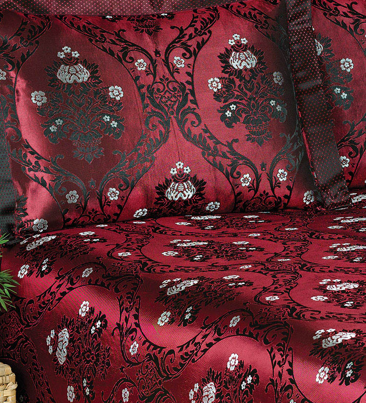 Покрывало NAZSU Покрывало Damask Цвет: Бордовый (240х260 см) покрывало karna вельсофт с вышивкой damask 160x220 см 1184141