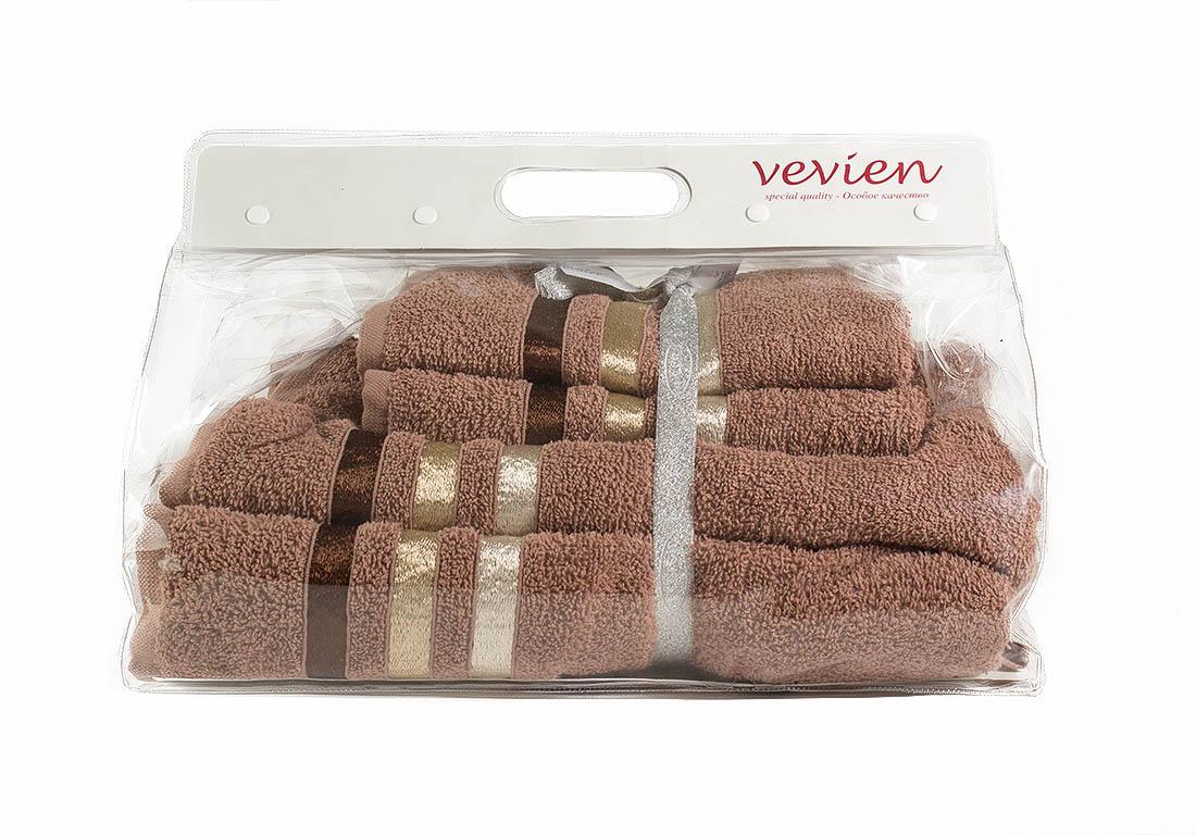 Полотенца Sokuculer Набор Полотенец Vevien Цвет: Бордовый полотенца do n co набор полотенец clara 70х140 см 4 шт