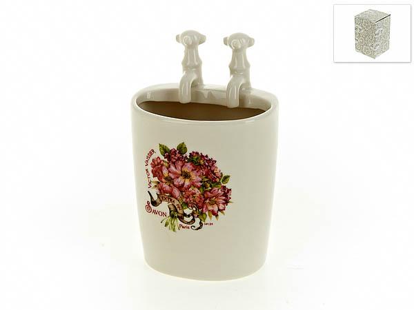 {} White CLEAN Подставка для зубных щеток Аромат Весны (6х8х13 см) white clean стакан для зубных щеток